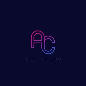 Logo vettoriale ac, design minimale
