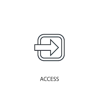 Icona della linea di concetto di accesso. illustrazione semplice dell'elemento. accesso al design del simbolo del contorno del concetto. può essere utilizzato per ui/ux mobile e web