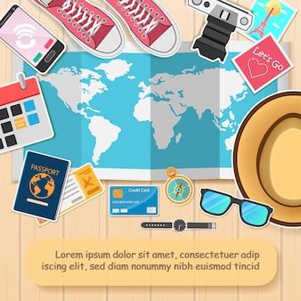 Gli accessori viaggiano per il mondo.