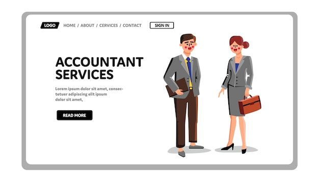 Accountant services workers businesspeople