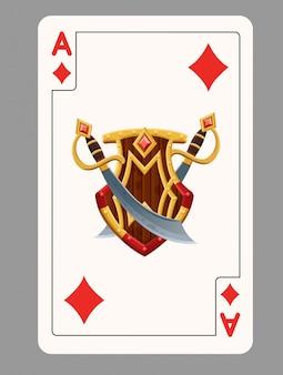 Carta da gioco asso di diamanti