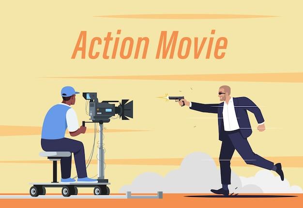 Modello di poster del film d'azione