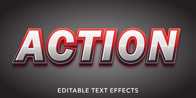 Azione testo effetto testo modificabile in stile 3d