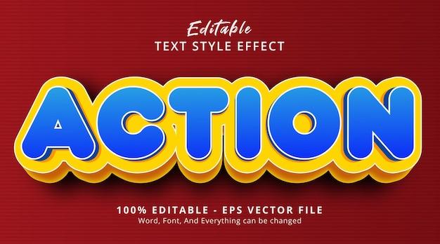Testo azione su moderno effetto stile sfumato, effetto testo modificabile