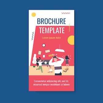 Modello di brochure per bambini cattivi attivi a casa
