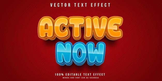 Effetto di testo attivo ora modificabile