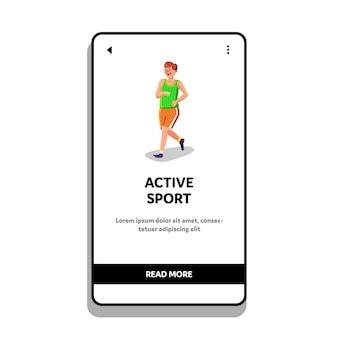 Uomo di atleta sportivo attivo fare jogging o correre