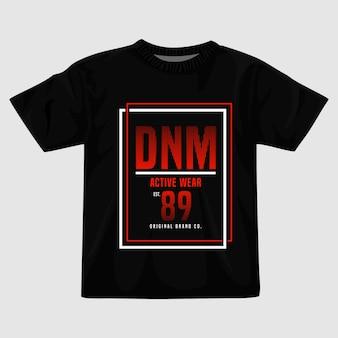Design della maglietta per l'abbigliamento attivo