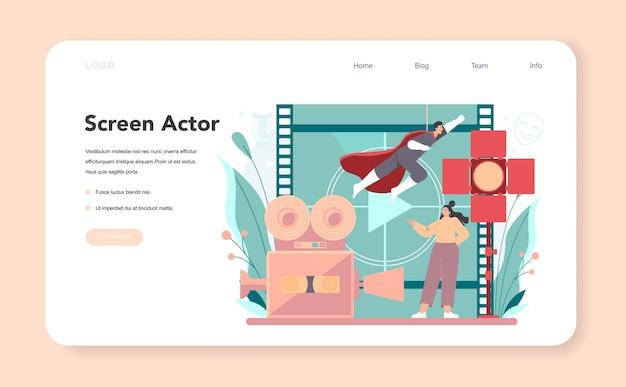 Banner web o landing page di attori e attrici
