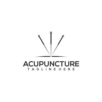 Concetto di logo di agopuntura