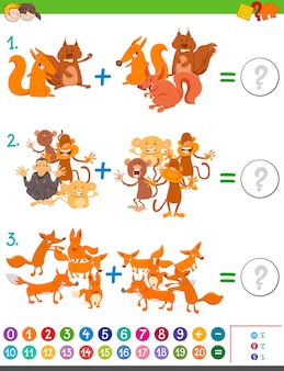 Aggiunta gioco di matematica per bambini