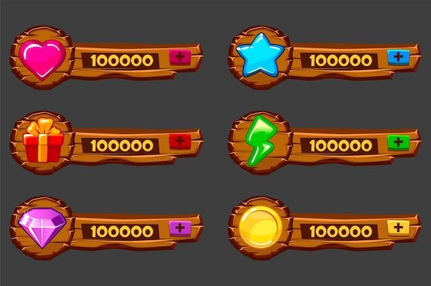 Pannelli in legno aggiuntivi per il game design
