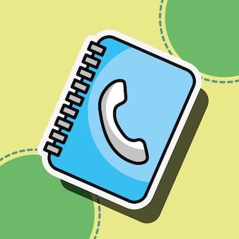 Indirizzo illustrazione di vettore del servizio clienti contatto rubrica