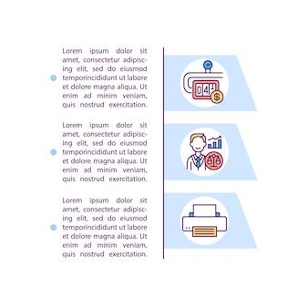 Icona di concetto di spese generali amministrative con testo. controllo dei costi generali. salari dei dirigenti senior. modello di pagina ppt.