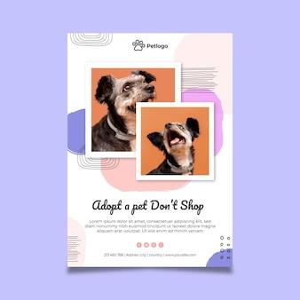 Adotta un poster per animali domestici con simpatici animali