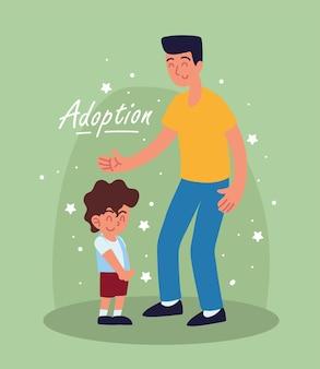 Adozione papà e figlio