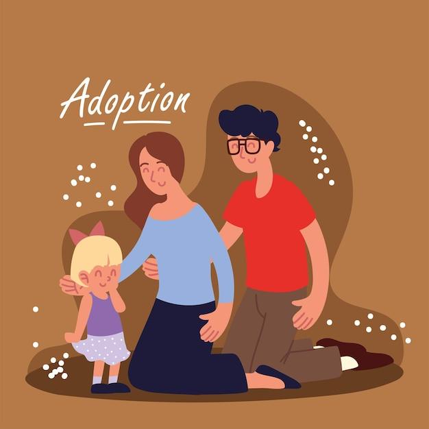 Adozione famiglia felice