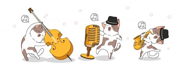Adorabili gatti nella giornata internazionale del jazz