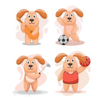Set di adorabili cani