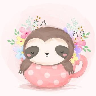 Adorabile bradipo che dorme