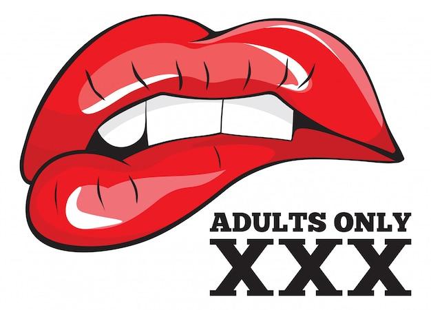 Segno solo per adulti. segno xxx
