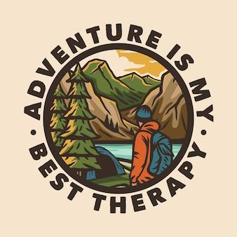 Logo distintivo campeggio avventura