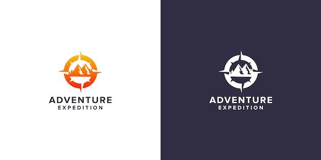 Design del logo della spedizione avventurosa