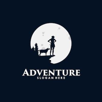 Design del logo per le escursioni avventurose