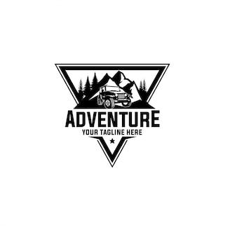 Modello di logo di avventura