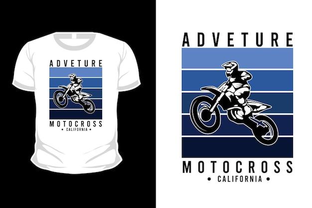 Avventura motocross california merce silhouette t shirt design