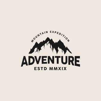 Modello logo adventure mountain