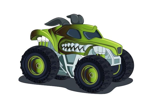 Avventura fuoristrada grande monster truck 4x4 illustrazione