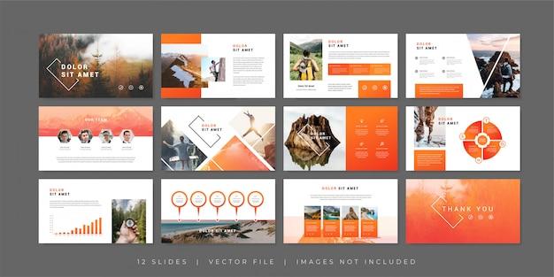 Modello di diapositive di presentazione avventura