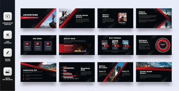 Modello di presentazione di diapositive di avventura
