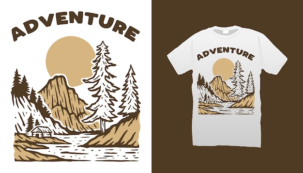 Maglietta di avventura