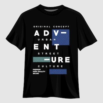 Design della maglietta tipografia avventura
