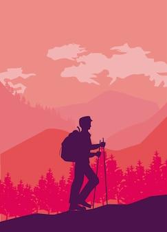 Scena della passeggiata dell'avventuriero