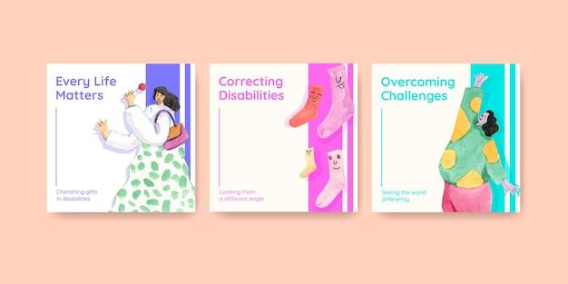Pubblicizza il modello con il concetto di giornata mondiale della sindrome di down