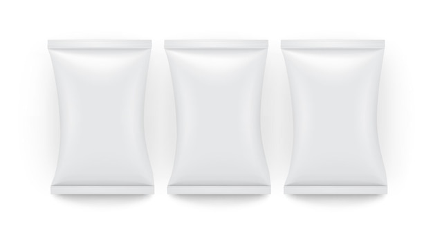 Borsa pubblicitaria vuota marca caramelle patatine caffè contenitore biscotto design mangiare farina vuota