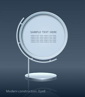 Cartellone pubblicitario, design di elementi web, costruzione moderna