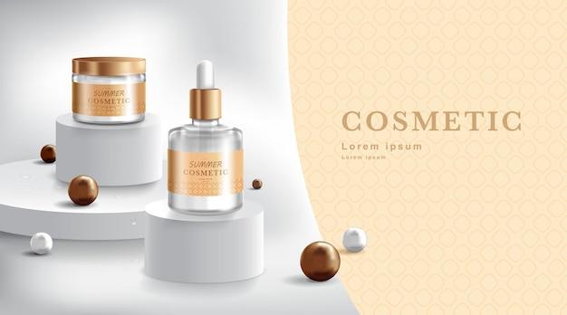 Pubblicità per la progettazione di imballaggi in crema e spray
