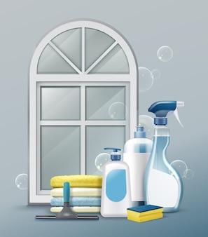 Mezzi pubblicitari per pulire le finestre