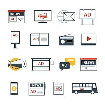 Icona media pubblicità