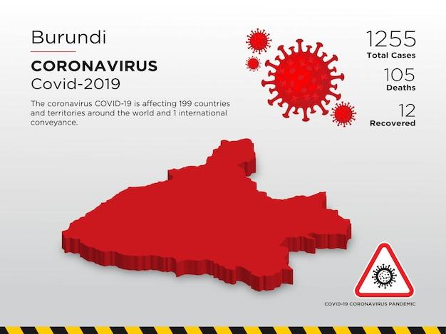 Modello di progettazione del paese interessato del coronavirus Vettore Premium