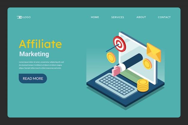 Pagina di destinazione marketing di affiliazione