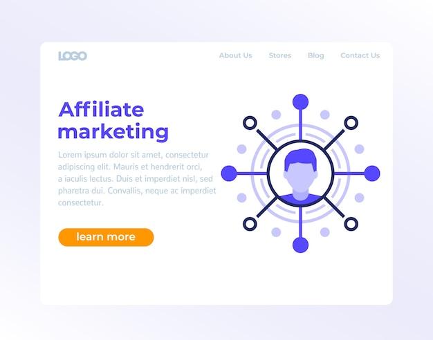 Pagina web di marketing di affiliazione, design di banner