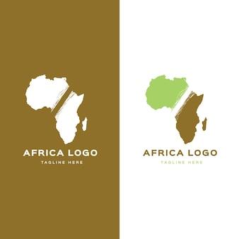 Modello di logo mappa africa