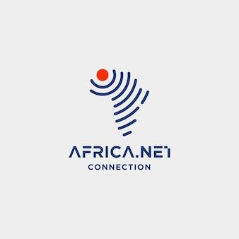 Illustrazione dell'icona di simbolo di wifi di internet di vettore di progettazione di logo del segnale dell'africa Vettore Premium