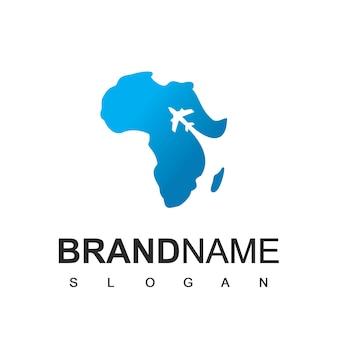 Modello di logo di viaggio e tour in africa