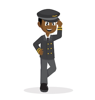 Ragazzo africano con costume da pilota.
